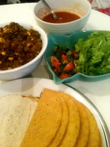 Mexican Inspired Taco Dinner.
